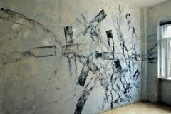 Wandbild, Öl, 2006, 250 x 600 cm, Foto Michael Lange