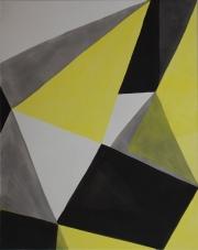 11 13-5  Acryl, Tusche auf LW, 2013, 120 x 95 cm