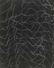 12/10   Fettkreide, Tusche auf Leinwand, 2012, 120 x 95 cm