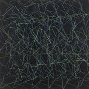 12/7,  Fettkreide, Tusche auf Leinwand, 2012, 155 x 155 cm