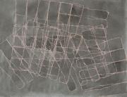 Spachtel VII, Fettkreide, Tusche auf Papier, 2009, 48 x 63 cm