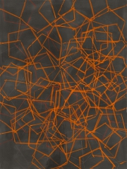 14/3, Fettkreide, Tusche auf Leinwand, 2014, 180 x 135 cm