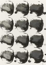 Rübe 20.1.17 III,  Acryl, Tusche, Öl auf Papier, 29,6 x 20,9 cm
