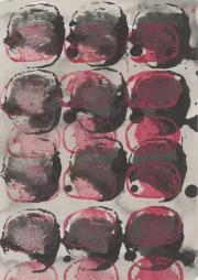 Rübe 24.1.17 XXIV, Acryl, Tusche, Öl auf Papier, 29,6 x 20,9 cm