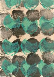 Rübe 28.2.17 VII,  Acryl, Tusche, Öl auf Papier, 29,6 x 20,9 cm