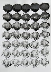 Mairübe, 27.5.16 V, Tusche auf Papier, 41,7 x 29,6 cm