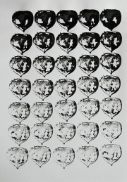 Mairübe, 28.5.16 VIII, Tusche auf Papier, 41,7 x 29,6 cm