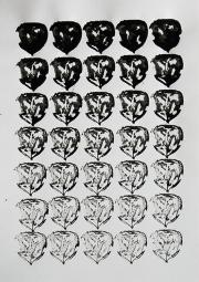 Mairübe, 31.5.16 VIII, Tusche auf Papier, 41,7 x 29,6 cm