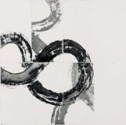 o. T.    Offene Ätzung,   Unikat,   2004,  49 x 49 cm